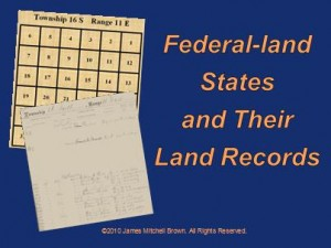 Federal land States and Their Land Records