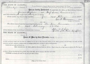 Taylor-Garmon marriage record